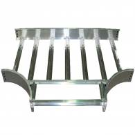 Aluminum Tray 12'' x 4''  T Fitting