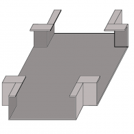 Wall Duct Flat 'X' Adapter 10'' x 3.5''